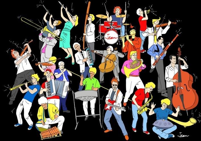 orchestre dessin